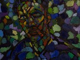 Mississippi Fred McDowell, 27�x 20,�Oil on Linen (2013)