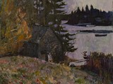 First Snow, Maine USA, 24�x 26, Oil on Linen (2011)